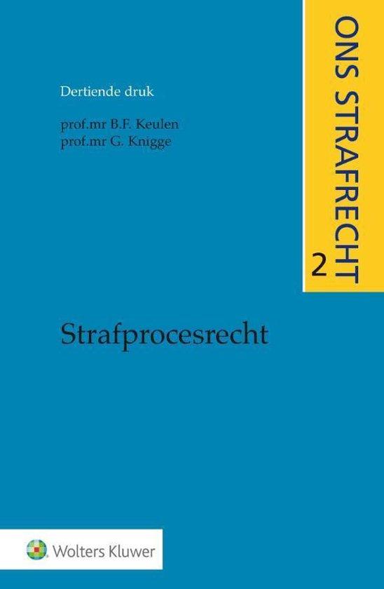Boek cover Ons strafrecht 2 - Strafprocesrecht van J.M. van Bemmelen (Paperback)