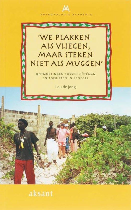 Cover van het boek ''We plakken als vliegen, maar steken niet als muggen'' van L. de Jong