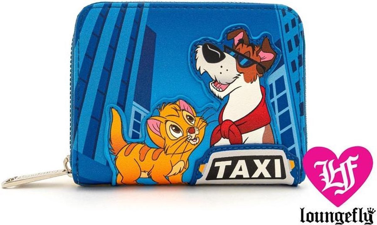 Loungefly Oliver and Company Taxi Ride Wrap Around Wallet