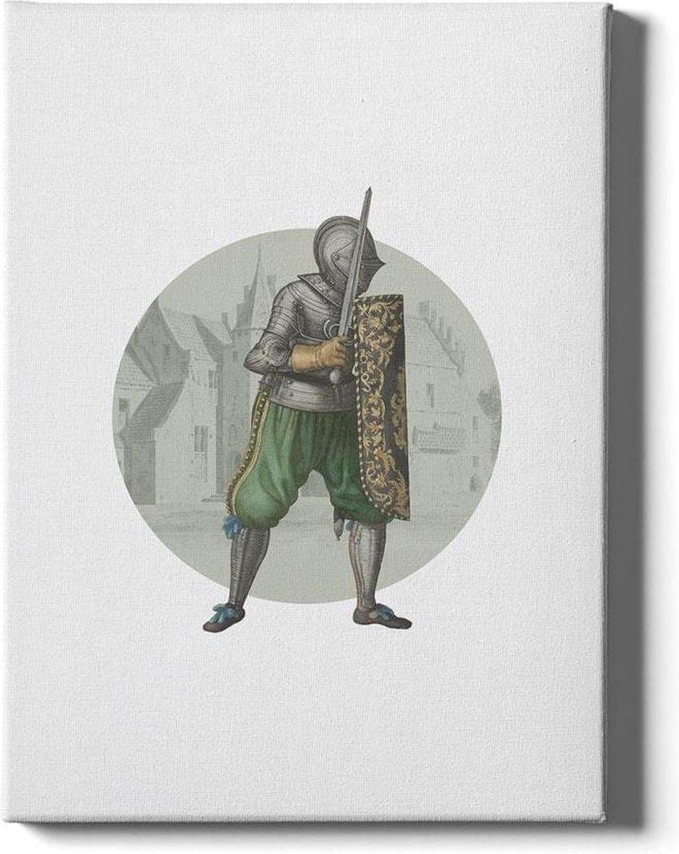 Knight I - Walljar - Wanddecoratie - Schilderij - Plexiglas