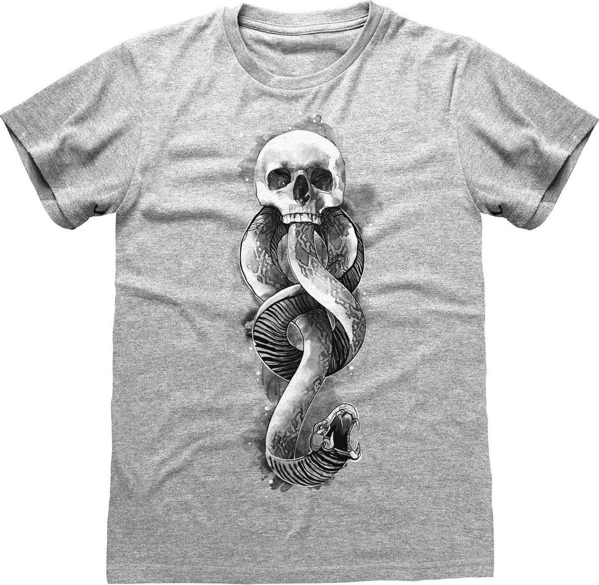 Harry Potter Heren Donkere Mark T-Shirt (Grijze Heide)