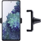 Shop4 - Samsung Galaxy S20 FE Autohouder Verstelbare Ventilatierooster Houder Zwart