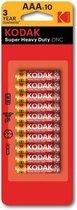 Kodak AAA Batterijen Extra Heavy Duty Goede kwaliteit Batterijen - Mini Penlite - 50 Stuks