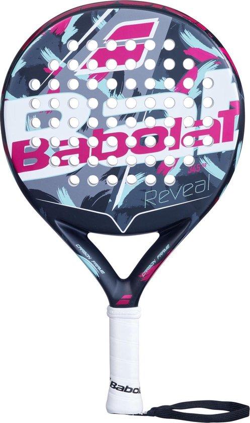 Babolat Padelracket Reveal - zwart,roze,grijs,blauw,wit