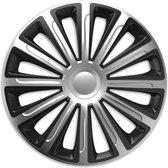 Wieldoppen 15 inch - Trend zilver - 4 stuks