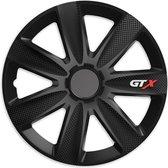 Wieldoppen 16 inch - GTX Carbon zwart - 4 stuks