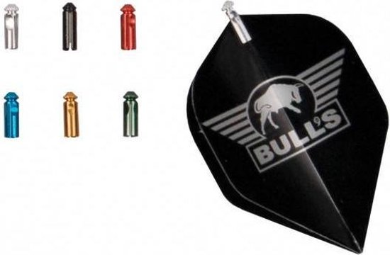Afbeelding van het spel Bull's Flightprotectors Aluminium Black (set)