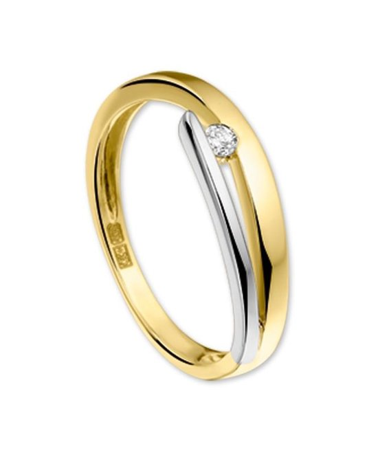 The Jewelry Collection Ring Diamant 0.05ct H Si - Bicolor Goud