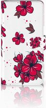 Samsung Galaxy J4 Plus (2018) Boekhoesje Design Blossom Red