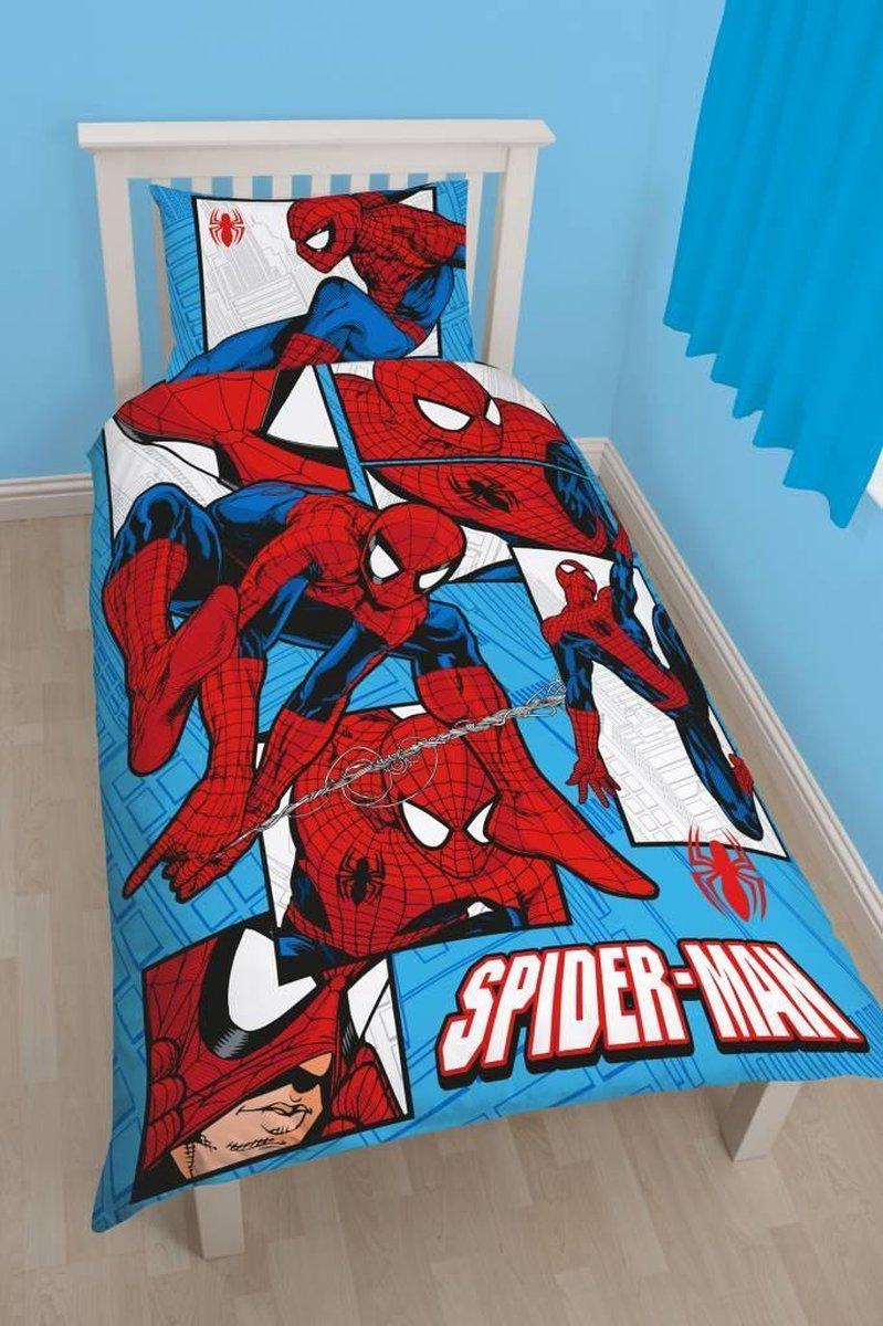 Spiderman Dekbedovertrek - Eenpersoons Dekbedhoes - 1 Kussensloop - Overige merken
