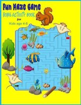 Fun Maze Game Home Activity Book for Kids Age 4-8