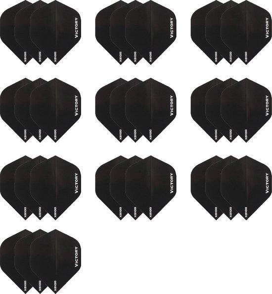 Dragon darts - 10 sets zwarte Victory dart flights - darts flights