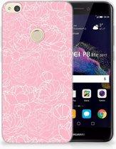 Huawei P8 Lite 2017 TPU Hoesje Design White Flowers