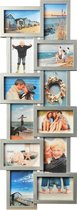 Fotolijst - Henzo - Holiday gallery - Collagelijst voor 12 foto's - Fotomaat 10x15 - Zilver