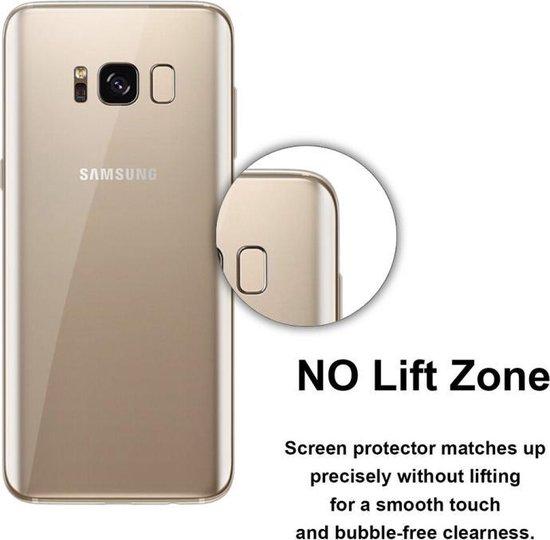50 PCS 0.1mm HD 3D gebogen PET terug Full Screen Protector voor Galaxy S8 + / G955  No detailhandel Package(Transparent)