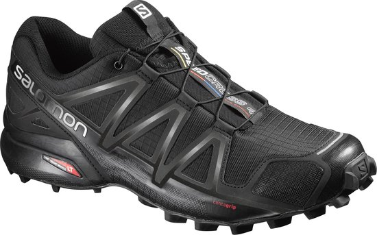 Salomon Speedcross 4 Sportschoenen Heren - Black/Black/Black Metallic