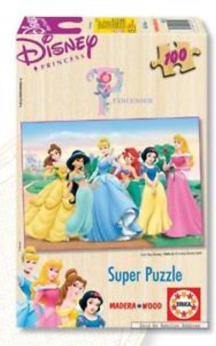 Houten Legpuzzel - 100 stukjes - Disney Prinsessen - Educa Puzzel