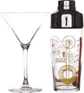 Luminarc cocktailshaker set 5-dlg - inclusief cocktailglazen