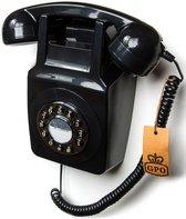 GPO 746 Retro Muurtelefoon Druktoets - Zwart
