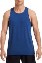 Sport hardloop singlet blauw voor heren - Heren sportkleding hemd/top blauw 2XL (44/56)
