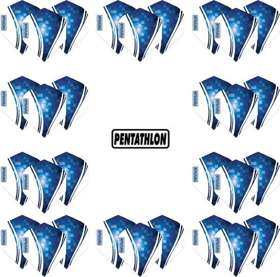 Pentathlon Wave - sterke flights - Blauw - Dragon darts - 10 Sets (30 stuks) - darts flights