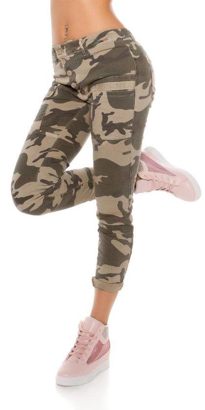 Onwijs bol.com   Dames Broek Camouflage Jeans Maat L EF-99