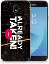 Samsung Galaxy J7 2017 | J7 Pro TPU siliconen Hoesje Design Already Taken Black