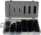 127 Delig krimpkous set zwart assortiment in opberg box