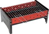 Camp-gear Barbecue - Compact - Houtskool - Zwart/rood