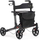 Rollator double, lichtgewicht rollator, opvouwbaar, kleur antraciet