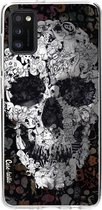Samsung Galaxy A41 (2020) hoesje Doodle Skull BW Casetastic Smartphone Hoesje softcover case