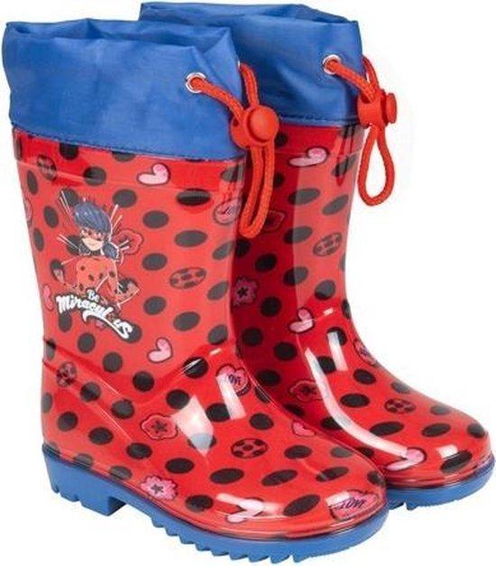 Perletti Regenlaarzen Lady Bug Junior Rubber Roodblauw Maat 3031