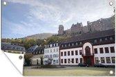 Stadsplein voor het Slot Heidelberg in Duitsland 120x80 cm