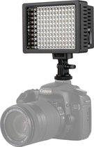 HD-160 Wit licht LED-videolicht op camera Fotografieverlichting Invullicht voor Canon, Nikon, DSLR-camera met 3 filterplaten