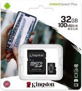 Kingston Canvas Select Plus microSD Card 10 UHS-I - 32GB - inclusief SD adapter