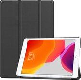 iPad 2020 hoes - iPad hoes 2020 - iPad 2020 hoes 10.2 - hoes iPad 2020 - hoesje iPad 2020 - iPad 2020 case - Kunstleer - Zwart - iMoshion Trifold Bookcase