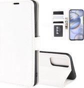 Voor Huawei Honor 30 R64 textuur enkele horizontale flip beschermhoes met houder & kaartsleuven & portemonnee & fotolijst (wit)