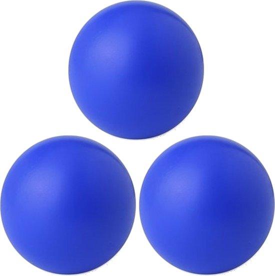 3x stuks blauwe anti stressballen 6 cm - Relax/Mindfullness middelen