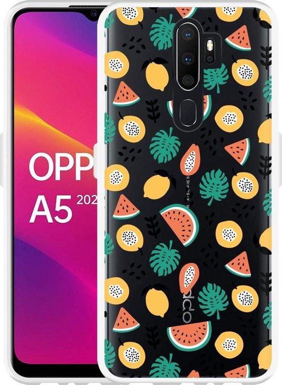 Oppo A5 2020 Hoesje Tropical Fruit
