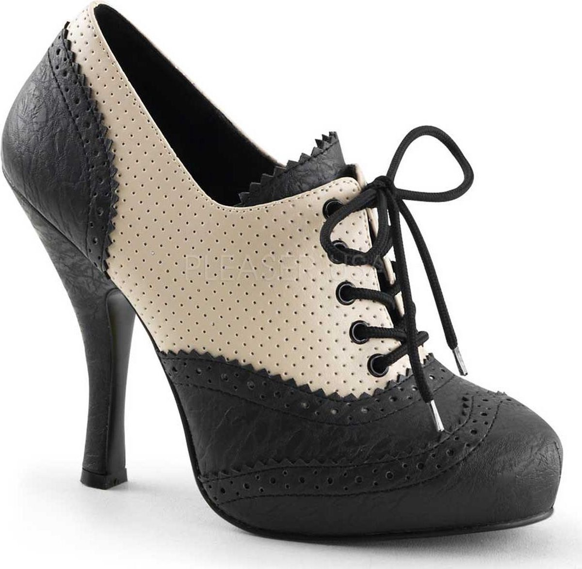 Pin Up Couture Lage schoenen 36 Shoes CUTIEPIE 14 US 6 CremeZwart