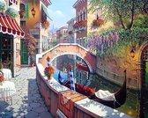 Hobbycave® Diamond Painting Volwassenen En Kinderen - 30x40 - Volledig Pakket - Vierkante Steentjes - Gracht Venetie