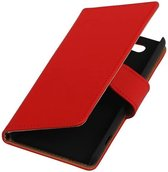 Bookstyle Hoes voor Sony Xperia Z4 Compact Rood
