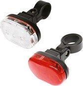 Dresco - Fietsverlichtingsset - Classic - LED - Zwart