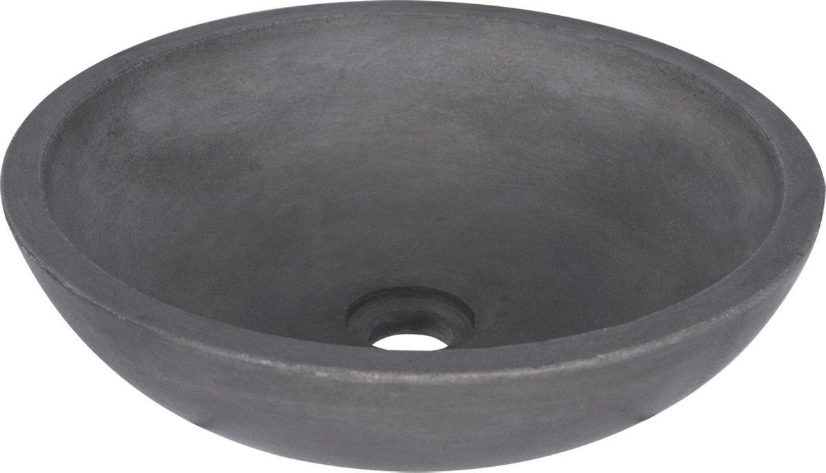 Differnz Ravano - Wastafel beton donkergrijs - Rond - 40 x 40 x 12 cm