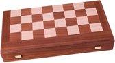 Mahonie combo Schaken - Dammen - Backgammon set - 30x17 cm