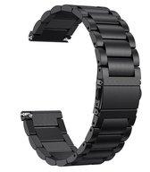 Metaal schakel bandje Zwart geschikt voor Fitbit Versa (Lite)