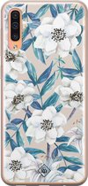 Samsung Galaxy A50/A30s siliconen telefoonhoesje - Touch of flowers