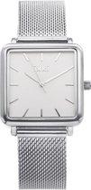 IKKI TENZIN TE01 Dames Horloge - RVS - 3ATM Waterdicht - Zilver