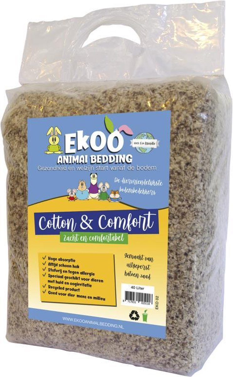 Ekoo Animal Bedding Cotton & Comfort - 40 L