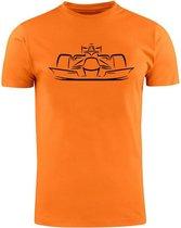 Oranje shirt Racewagen t-shirt | MAX speed | turbo speed | Unisex